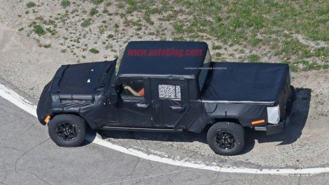 Jeep Wrangler 2019 шпионские снимки