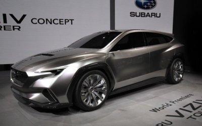 Subaru показала в Женеве концепт машины без ручек и боковых зеркал