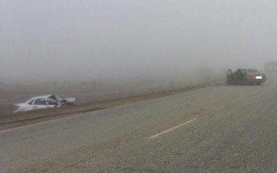 Три человека пострадали в ДТП в тумане на Ставрополье