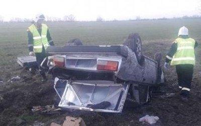 В Крымском районе погиб водитель опрокинувшейся «Лады»