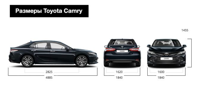 Размеры Toyota Camry