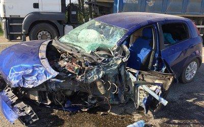 Под Краснодаром произошло массовое ДТП с автобусом
