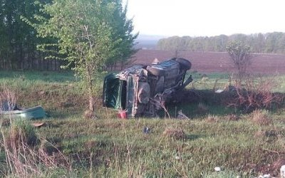 В Тульской области погиб молодой водитель опрокинувшейся иномарки