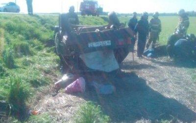 Два человека пострадали в опрокинувшемся автомобиле на трассе «Орел-Ефремов»