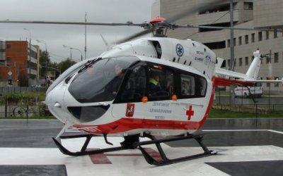 Вертолет эвакуировал ребенка, пострадавшего в ДТП в Москве