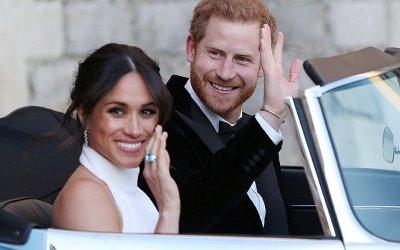 На свадьбу принца Гарри подарили Jaguar под цвет кольца принцессы
