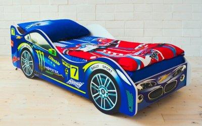 Автомобилями могут быть и детские кровати