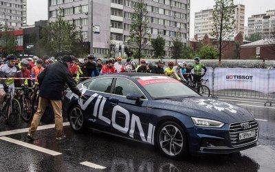 Автомобили Audi от АЦ Волгоградский возглавили колонну велосипедистов