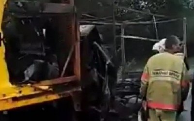 Водитель «Газели» сгорел в машине после ДТП на Ставрополье
