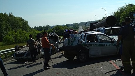 Четыре человека погибли в массовом ДТП в Пензенской области (2)