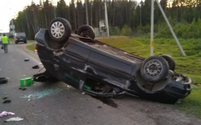 Лосенок устроил серьезное ДТП на Новоприозерском шоссе
