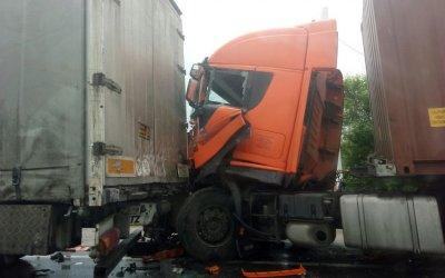 Два большегруза попали в ДТП в Рыбновском районе