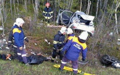 В ДТП с мотоциклом под Мурманском погибли два человека