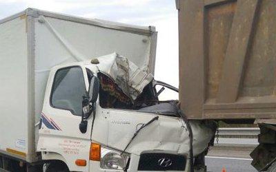 Под Челябинском в ДТП с двумя грузовиками погиб человек