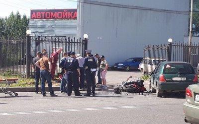 Мотоциклист пострадал в ДТП в Вологде