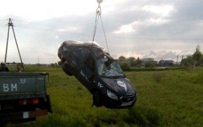 Водитель такси пострадал в ДТП под Омском