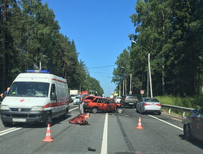 Водитель ВАЗа погиб в ДТП в Ленобласти (3)