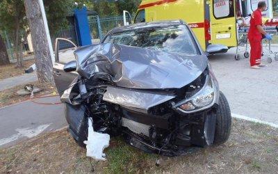 Водитель иномарки пострадал в ДТП в Анапе
