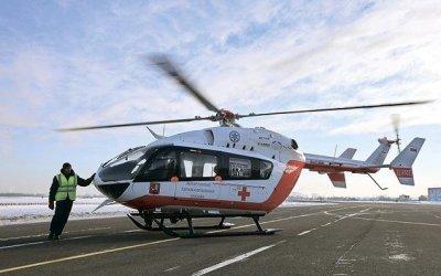 Вертолет эвакуировал двух детей, пострадавших в ДТП в Новой Москве