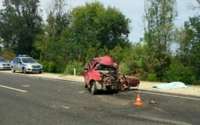 Три человека погибли в лобовом ДТП в Дагестане