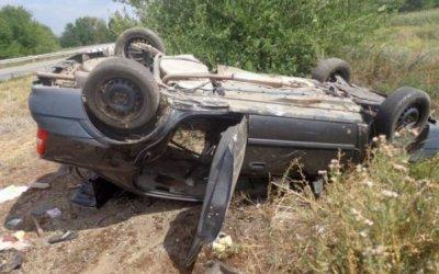 Человек погиб при опрокидывании машины в Подмосковье