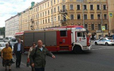 Пожарная машина попала в ДТП в Петербурге
