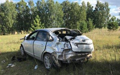 В Башкирии погибла пассажирка опрокинувшейся иномарки