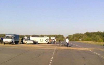 Водитель опрокинувшейся иномарки погиб в ДТП в Кумылженском районе