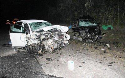 Три человека пострадали в лобовом ДТП на трассе «Кола»