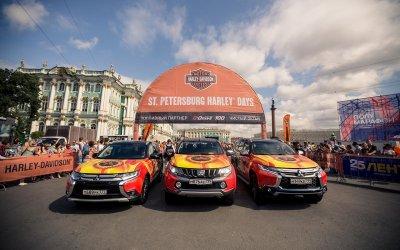 Автомобили Mitsubishi отметились на Мотофестивале St. Petersburg Harley Days