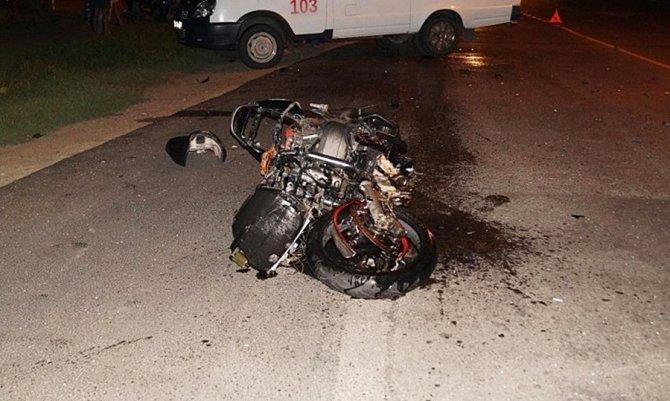 21-летний мотоциклист погиб в ДТП в Курганинске (1)