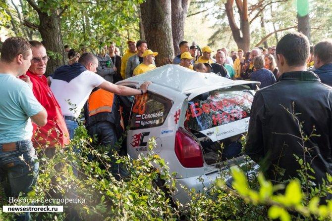 Ралли «Санкт-Петербург - 2018» были остановлены из-за аварии 1