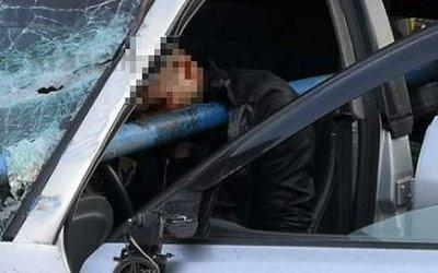 В Норильске мужчину в ДТП проткнуло трубой