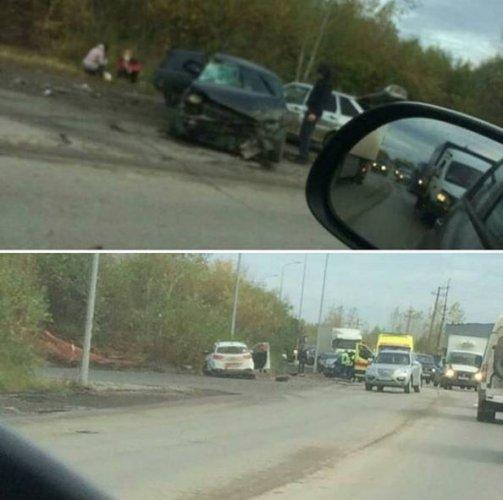 В Перми водитель насмерть сбил пенсионерку и устроил массовое ДТП (2)