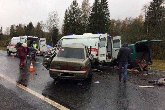 Трое погибли в ДТП в Вологодской области (2)