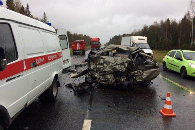 Трое погибли в ДТП в Вологодской области (5)