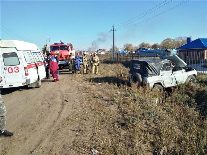 Водитель УАЗа погиб в ДТП в Самарской области