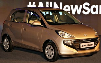 Начались продажи сверхбюджетного хэтчбека Hyundai Santro
