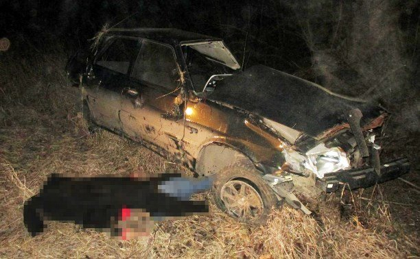 21-летний водитель ВАЗа погиб в ДТП в Тульской области