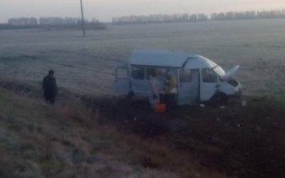 Под Ульяновском перевернулась маршрутка, 11 пострадавших