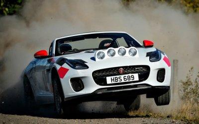Кабриолеты Jaguar F-Type стали раллийными болидами