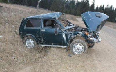 В Прикамье погиб водитель опрокинувшейся «Нивы»