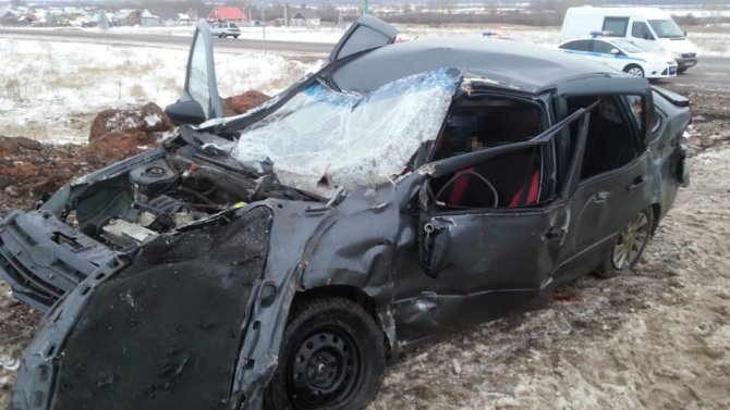 В ДТП с КамАЗом в Башкирии погибла пассажирка «Лады» (2)