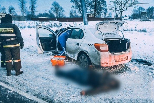 В Ленобласти иномарка врезалась в столб – погиб человек