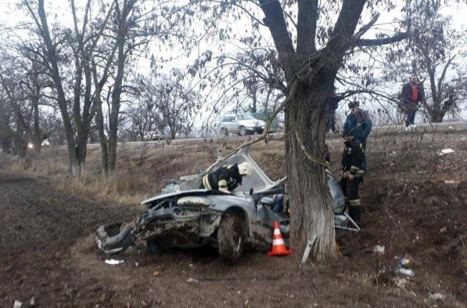 На Ставрополье женщина-водитель погибла, врезавшись в дерево