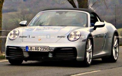 Испытывается новый кабриолет Porsche 911