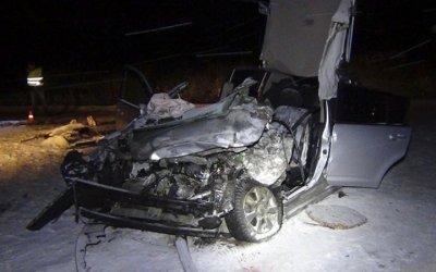 В ДТП под Апатитами погиб водитель иномарки