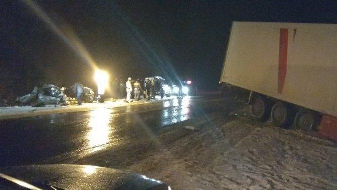 В Брянской области в ДТП с фурой погибли родители 6-летней девочки (1)