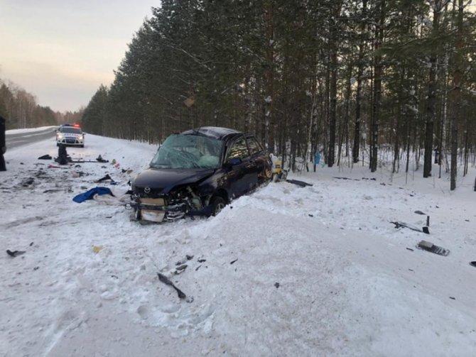 Девушка погибла в ДТП с двумя «Маздами» под Томском (3)