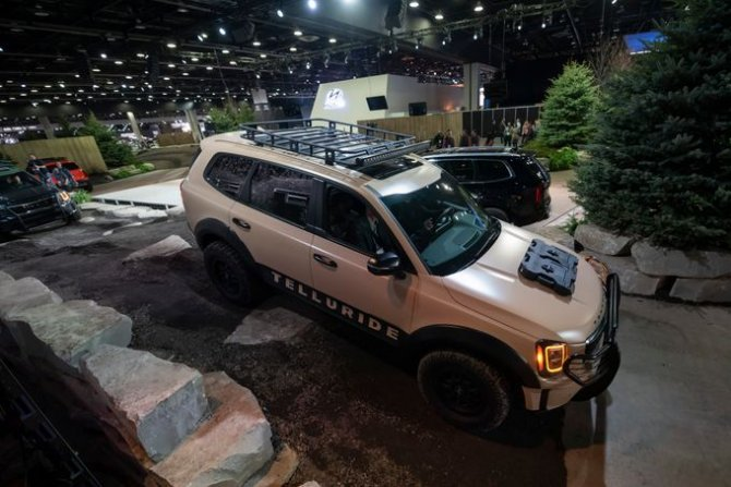 KIA Telluride на автосалоне в Детройте. Январь, 2019 год. Detroit News 3